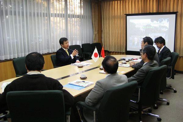 我校副校長蒲嘉陵博士訪問日本千葉大學