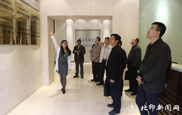 北大方正电子有限公司总裁杨斌一行到北印调研
