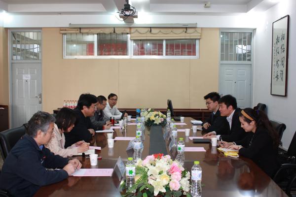 青岛国际版权交易中心董事长安波一行访问北印